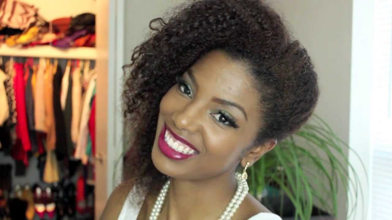 Easy Side Sweep On Natural Hair Youtube