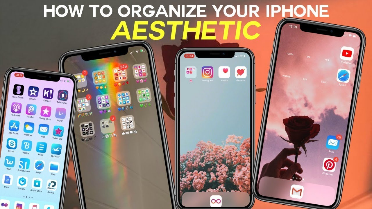 Aesthetic Ways To Organize Your Iphone Youtube
