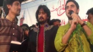 Farhan Ali Waris & Irfan Haider Qasida in Ratodero city 2012