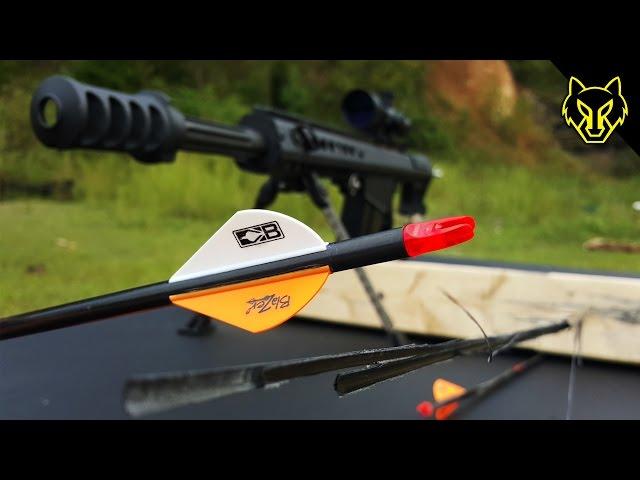 Splitting an Arrow with a Barrett .50 Cal