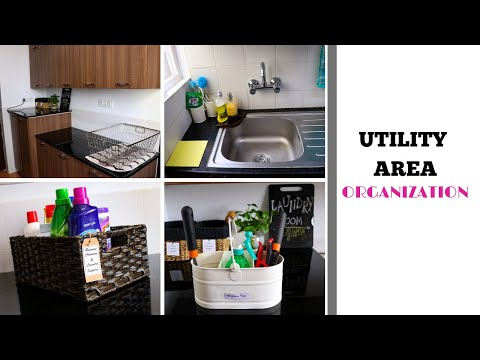 Utility Area Organization - Laundry And Utensils Cleaning Area