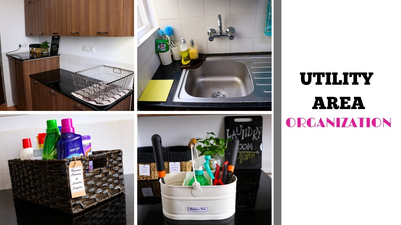 Utility Area Organization Laundry And Utensils Cleaning Area Youtube