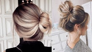 Latest Beautiful hairstyle for Long Hair girls | Bun hairstyles for Girls #7