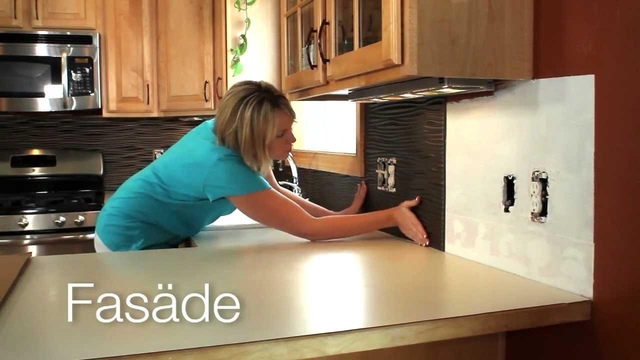 inexpensive kitchen backsplash decor theme ideas what's fasade? - youtube