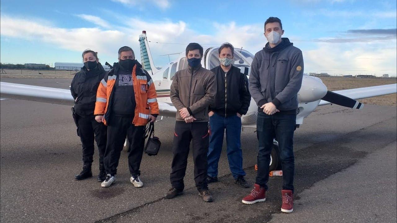 Aeroclub de Río Gallegos colaboro en la búsqueda de Marcela López