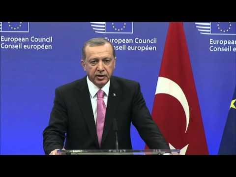 European Council President Donald Tusk and Turkish President Tayyip Erdogan