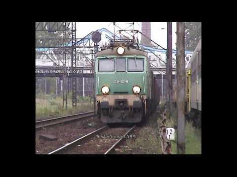 PKP ET41-152 Coal Train GLIWICE Poland 11/09/08