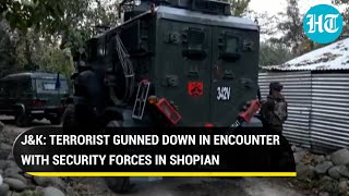J&K: Terrorist gunned down in encounter with security forces in Shopian