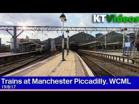 Trains at Manchester Piccadilly, WCML - 19/8/17
