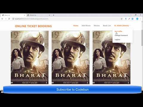 Online Movie ticket booking project in java with source code