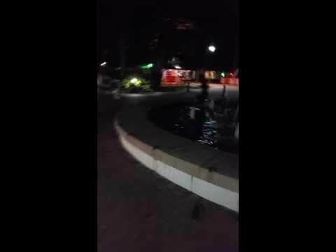 Girl falls in fountain