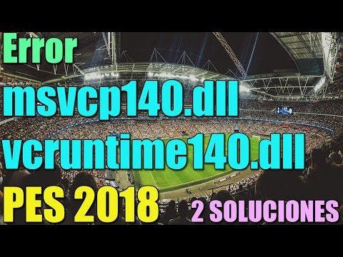 msvcp140.dll windows 10 pes 2018