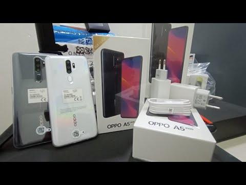unboxing OPPO A5 2020 Harga 2Jtnan 3/64Gb black & white