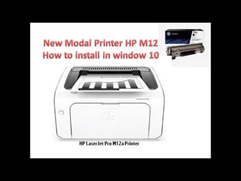 Hp Laser Jet New Model M12a Printer How To Install  Printer Driver In Window 10