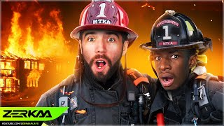 FIREFIGHTER SIMULATOR! (Into The Flames with Tobi)