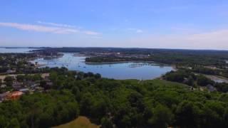 Great Hill, N. Weymouth, Wessagusset Beach Phantom 3 Drone