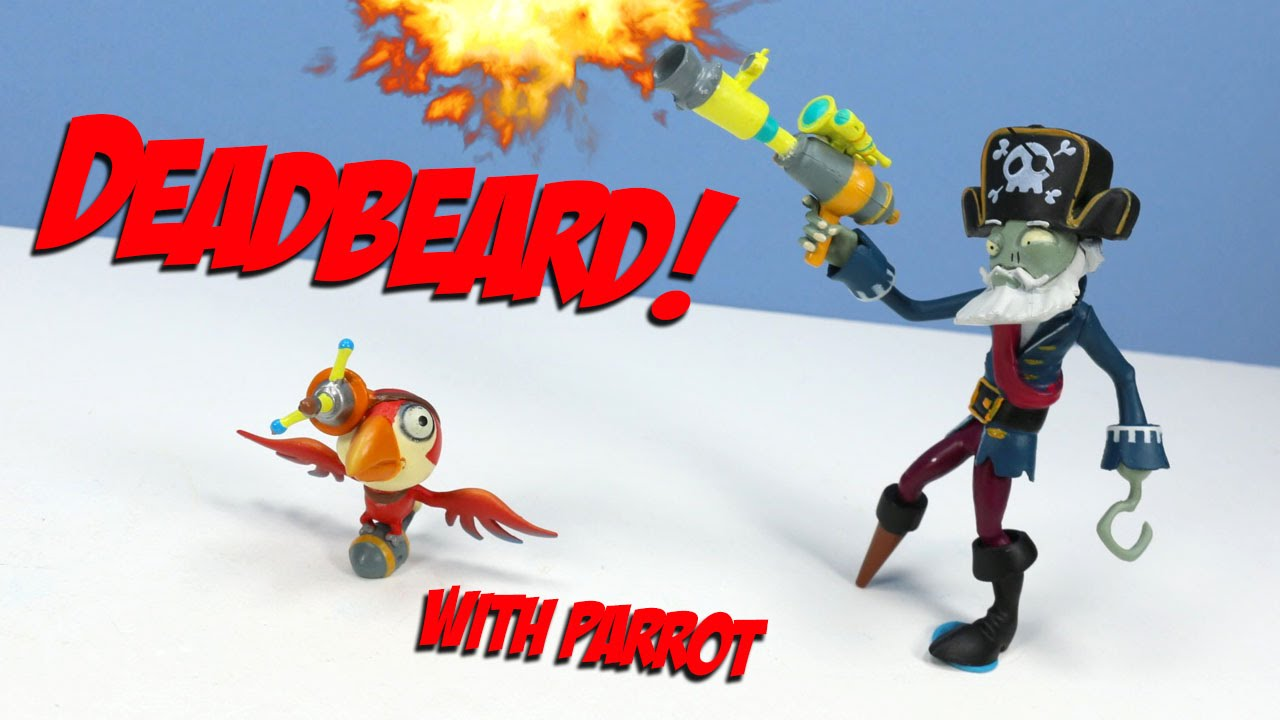 Plants Vs Zombies Garden Warfare 2 Captain Deadbeard With Parrot Toy Jazwares