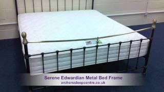Serene Edwardian Metal Bed Frame