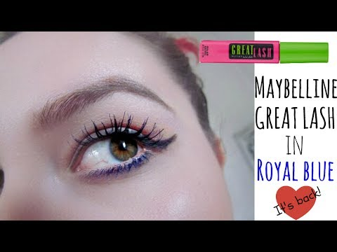037b9c5c110 Maybelline Great Lash Royal Blue Review | Influenster VoxBox | May 2017 -  YouTube