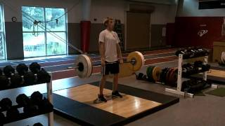 VSP MTP Avery Fanning the Sailing Champ Hang Cleans