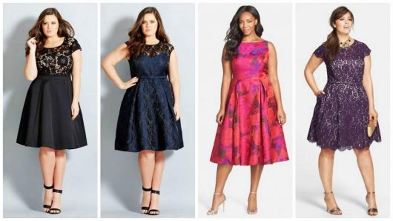 336827295 Modelos de Vestidos Curtos Para Festa Plus Size Para 2017 - YouTube