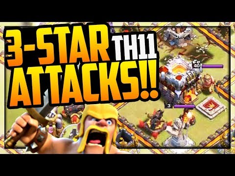 MANY Ways to Victory! Clash of Clans Town Hall 11 3-Star Attacks! CoC
