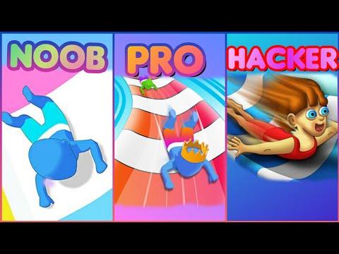 NOOB VS PRO VS HACKER OF AQUAPARK.IO
