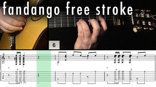 Flamenco Guitar 102 - 21 Fandango Free Stroke