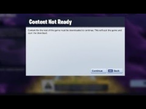 How To Fix Content Not Ready On Fortnite Save The World Chapter 2 Season 1 Pc