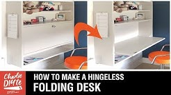How to Make a Folding Desk - With No Hinges!