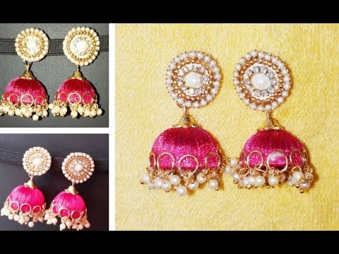 Silk thread earrings// easy diy silk thread earrings//silk thread earrings 2018