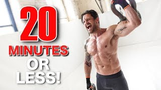 FULL  BODY WORKOUT IN UNDER 20 MINUTES (Can You Beat Me?!)