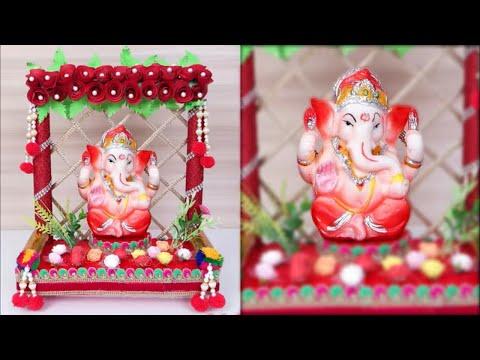 Ganpathi Decoration Ideas At Home Ganesh Temple