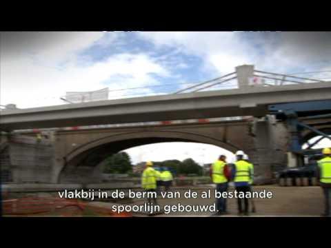 Twee nieuwe spoorbruggen in Anderlecht (GEN)