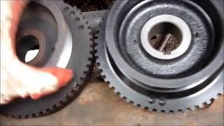 Снятие шкива коленвала с демфером ГАЗель 405 406 409