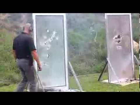 3m Security Window Film Demonstration W Assault Rifle