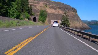 Tunnels along HiWay 14 WA  Cloumbia River