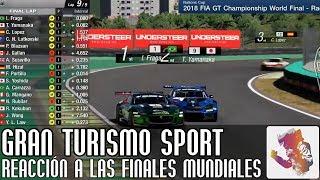 Reaccionando a las finales mundiales de Gran Turismo Sport