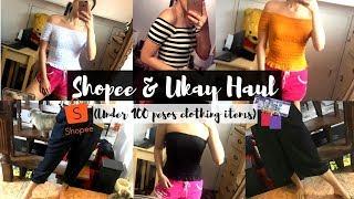 SHOPEE AND UKAY-UKAY CLOTHING HAUL| Madj Gallardo (PHILIPPINES)