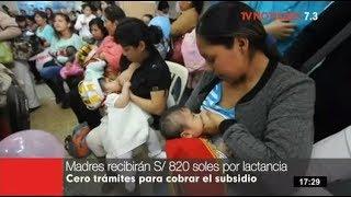 Madres aseguradas a EsSalud podrán cobrar 820 soles por lactancia sin mayores trámites