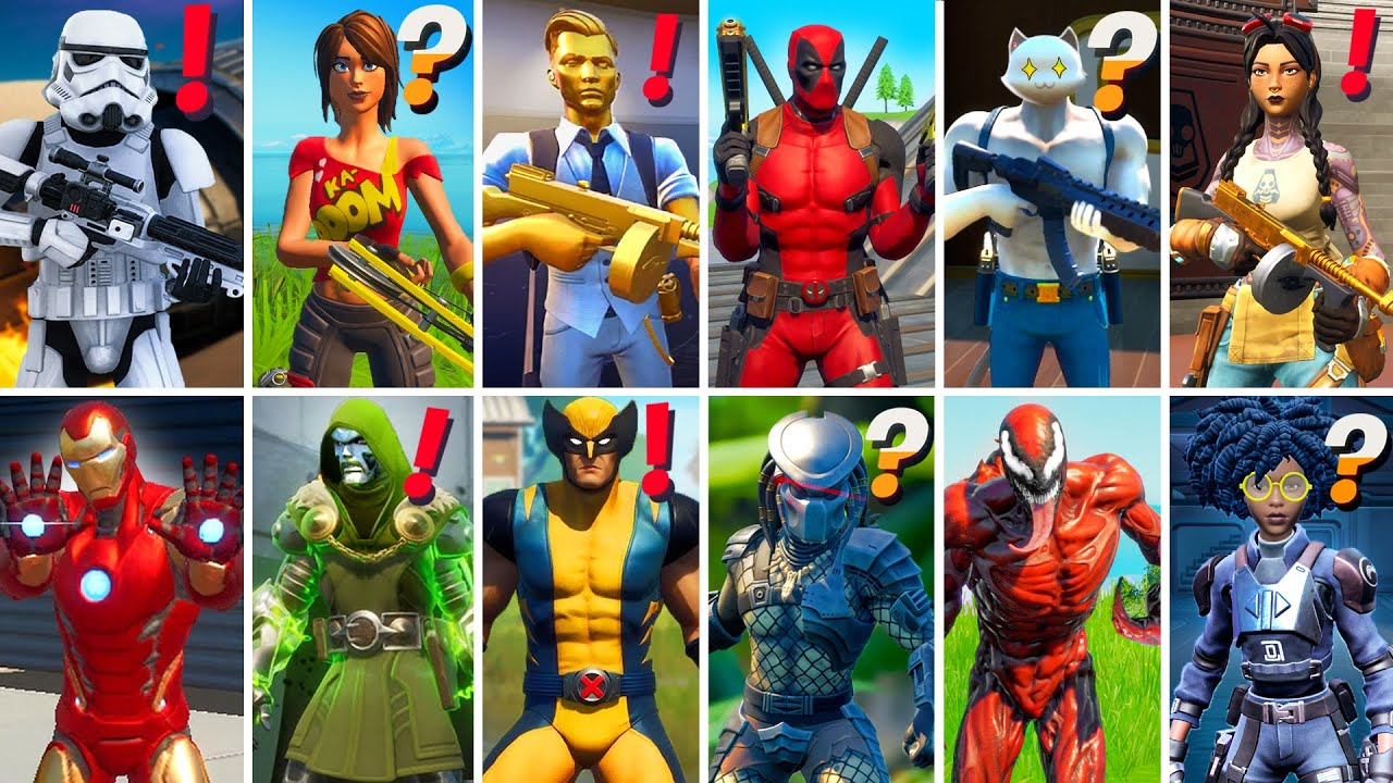 Download All Bosses, Mythic Weapons & Vault Locations in Fortnite Season 1 - 8 (Midas,Kit,Wolverine,Carnage)