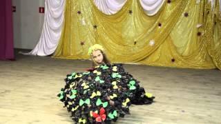 Детское дефиле. Платье из пакетов