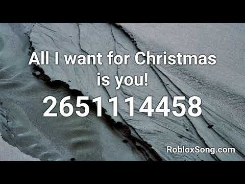 All I Want For Christmas Is You Roblox Id Music Code Youtube