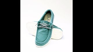 Hey Dude Shoes - 360° Wally Washed (Teal)