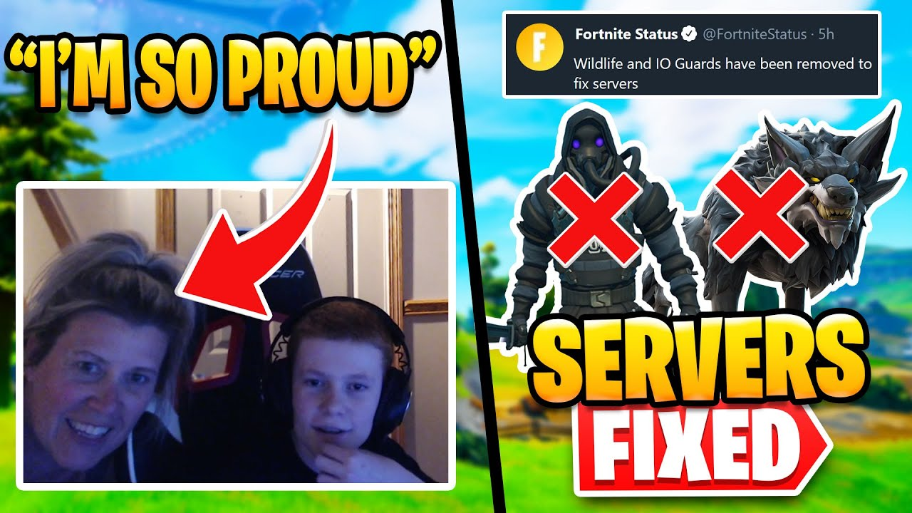 Mom Reacts to Sons Huge Win   NPCs Vaulted - Are Servers Fixed?