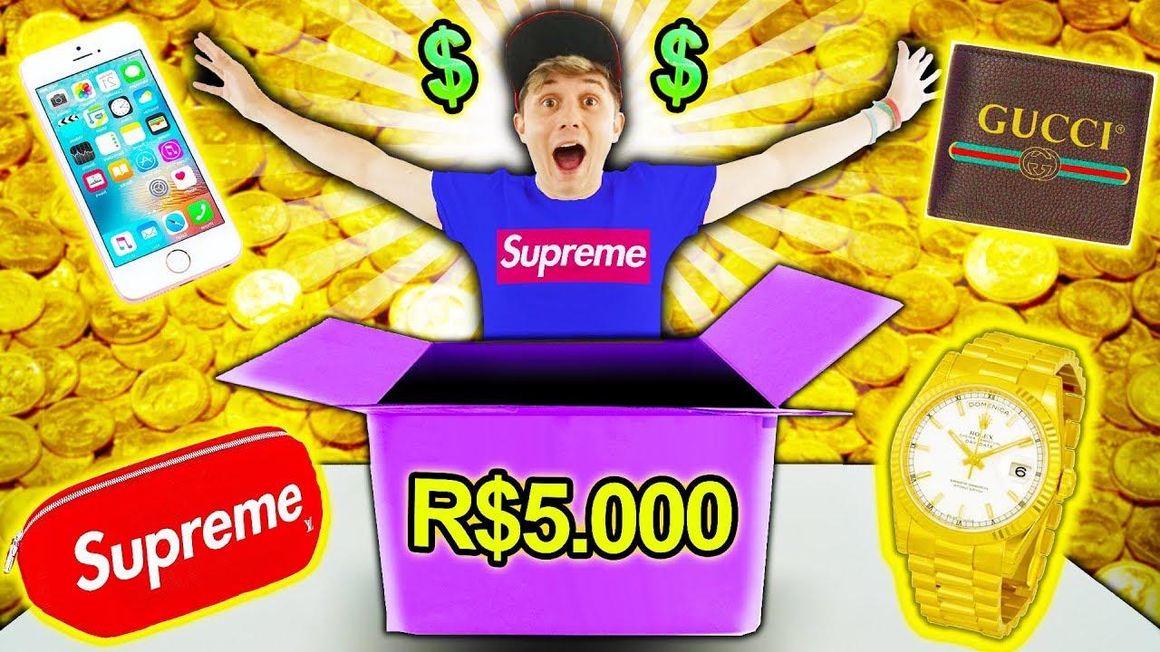 O QUE TEM NUMA CAIXA MISTERIOSA DE R$5.000 ? 📦