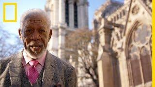 Notre-Dame de Paris : quand Morgan Freeman découvrait la Sainte Couronne