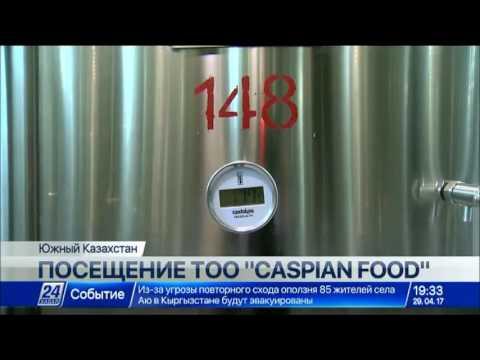 Н.Назарбаев и Ш.Мирзиёев посетили ТОО «Caspian Food»