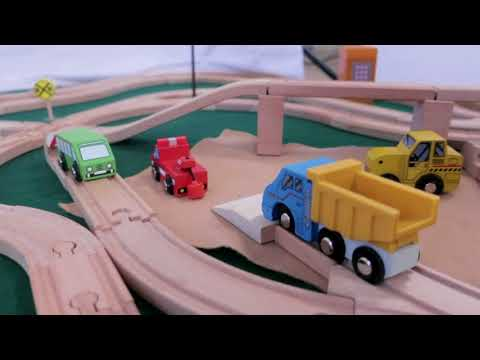 Ultimate Brio Wooden Train Set Setup | Learning Adventures Kids Channel