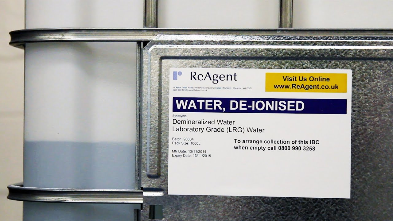 deionized water drinking